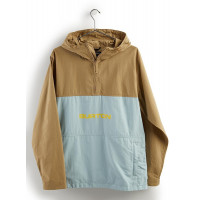 Burton Men's Antiup Anorak Jacket Kelp/Ether Blue
