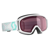 Scott JR Witty Junior Goggles White/Mint Green - Enhancer Lens