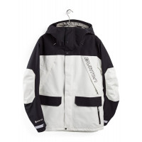 Burton GORE-TEX Breach Mens Jacket Stoat White/True Black