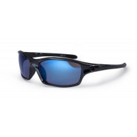 Bloc Daytona Sunglasses Shiny Black Blue Lens