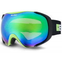 Bloc Mask Goggles Matt Green/Black - Brown Green Mirror Lens