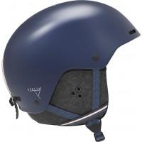 Salomon Spell+ Womens Ski + Snowboard Helmet Wisteria Navy/Blue Bird