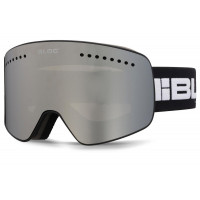 Bloc Fifty-Five Goggles Matt Black - Silver Mirror + Orange Blue Lens