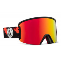 Volcom Garden Goggles Magna Smoke - Red Chrome Lens