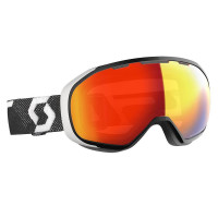 Scott Fix LS Goggles Black/White - Light Sensitive Red Chrome Lens
