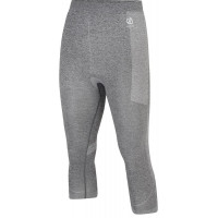 Dare 2b Mens In The Zone 3/4 Base Layer Pants Charcoal Grey Marl