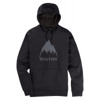 Burton Mens Oak PO Hoodie True Black Heather