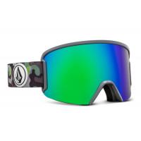 Volcom Garden Goggles Camo Lime - Green Chrome Lens