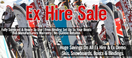Ex Hire Ski & Snowboard Sale Now On!