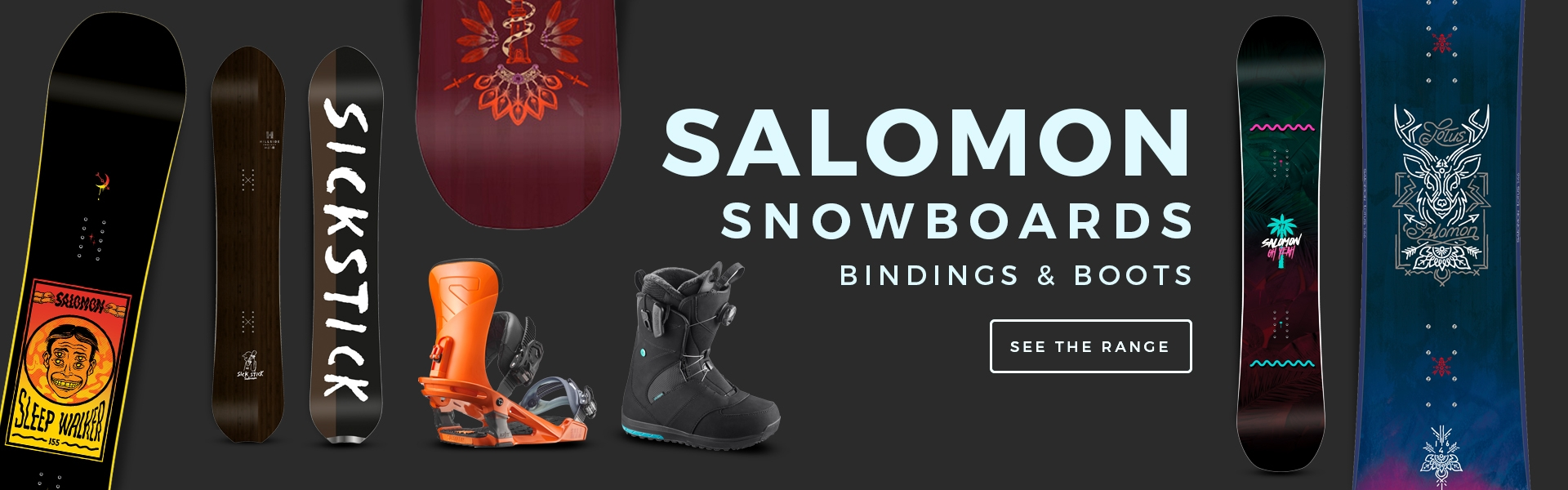 Salomon Snowboards, Salomon Snowboard Boots, Salomon Snowboard Bindings